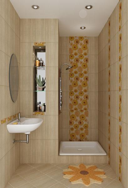 Дизайн маленькой ванной комнаты с душем